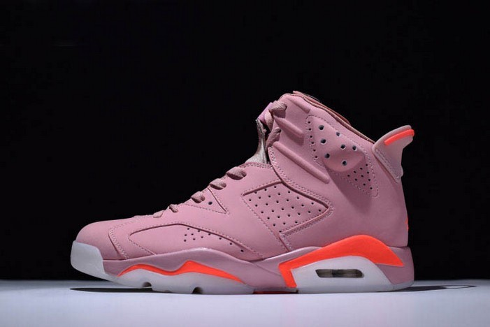 "Aleali May x Air Jordan 6 (VI) Retro ""Millennial Pink"" 384664 031 Shoes"