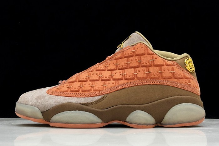 2018 CLOT x Air Jordan 13 (XIII) Low Sepia Stone Canteen Terra Blush AT3102 200 Shoes
