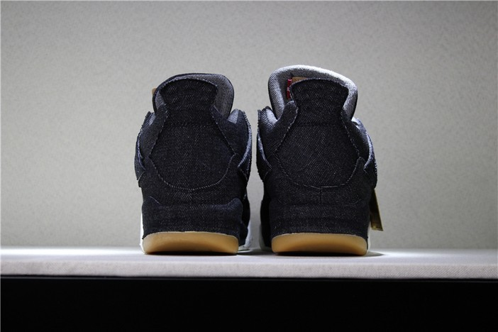 "Levi's x Air Jordan 4 ""Black Denim"" AO2571 001 Mens Shoes"