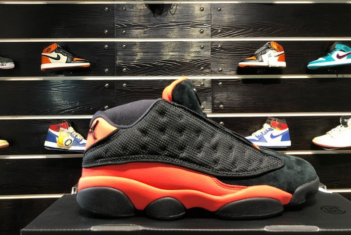 "2018 Mens CLOT x Air Jordan 13 (XIII) Low ""Black Infrared"" AT3102 006 Shoes"
