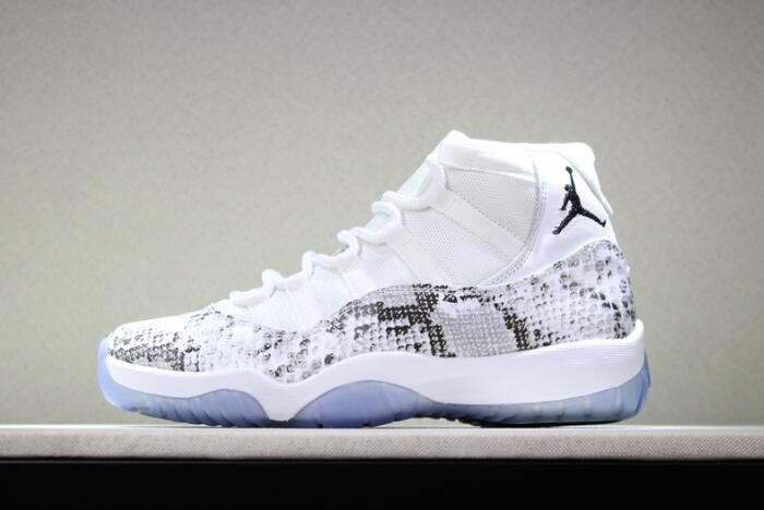 Mens Air Jordan 11 (XI) Retro White Snakeskin 378037 103 Shoes
