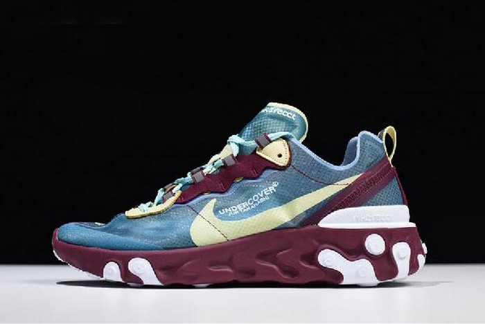 Undercover x Nike React Element 87 Blue Gold Purple White Running Shoes