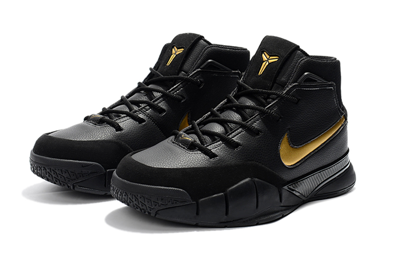nike kobe 1 protro mamba day black white metallic gold