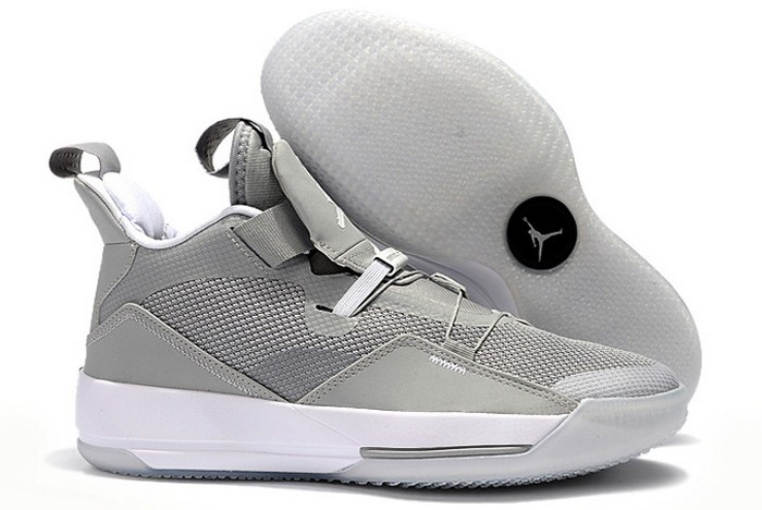 2019 Air Jordan 33 (XXXIII) Cool Grey White Basketball Shoes