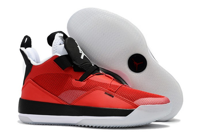 2019 Air Jordan 33 (XXXIII) University Red Black White Shoes