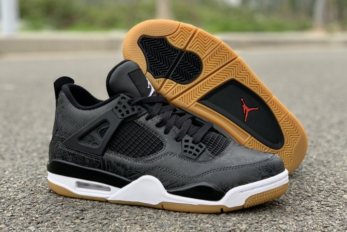 "2019 Air Jordan 4 (IV) Retro Laser SE ""Black Gum"" CI1184 001 Shoes"