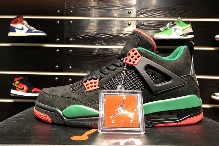 "2019 Air Jordan 4 (IV) NRG ""Do The Right Thing"" White Gorge Green Varsity Red AQ3816 163 Shoes"