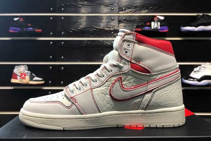 "2019 Mens Air Jordan 1 (I) Retro High OG ""Phantom"" Sail Black Phantom University Red 555088 160 Shoes"