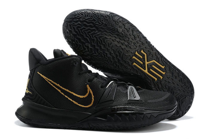 nike kyrie 7 black metallic gold shoes