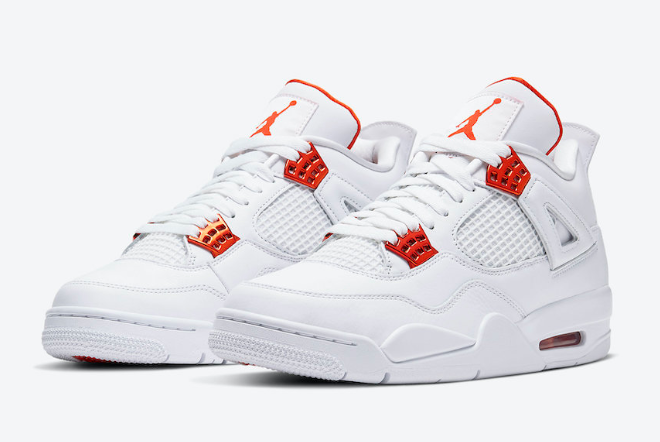 air jordan 4 orange metallic