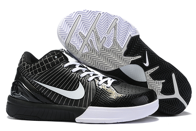 nike kobe 4 protro black white shoes