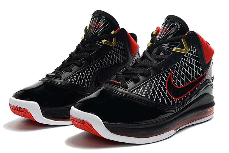 nike lebron 7 black varsity red white