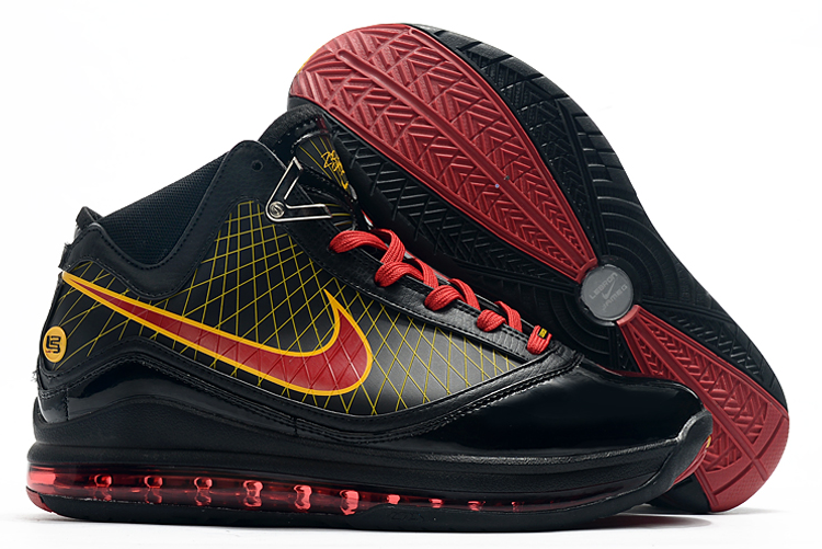nike lebron 7 fairfax black red