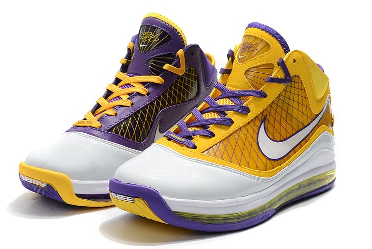 nike lebron 7 lakers shoes for sale