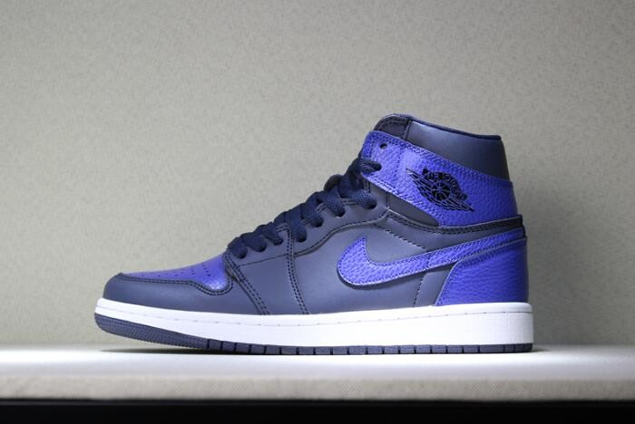 "Air Jordan 1 Mid ""Pairs Obsidian And Royal"" Obsidian Summit White Game Royal Shoes"