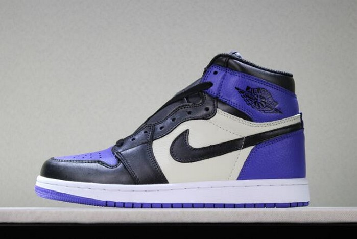 Air Jordan 1 Retro High OG Court Purple Sail Black 555088 501 Shoes