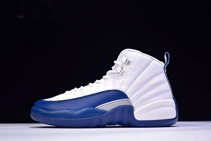 "Air Jordan 12 Retro ""French Blue"" White French Blue Metallic Silver Varsity Red Shoes"
