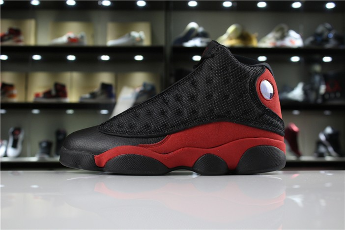 "Air Jordan 13 Retro ""Bred"" Black True Red White Shoes"
