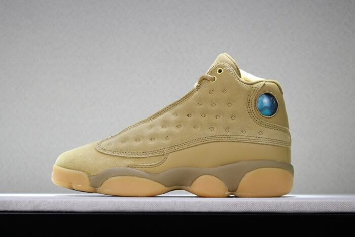 "Air Jordan 13 ""Wheat"" Golden Harvest Elemental Gold Shoes"