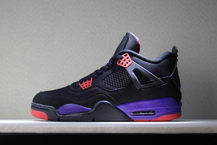 "2018 Air Jordan 4 NRG ""Raptors"" Black University Red Court Purple Shoes"