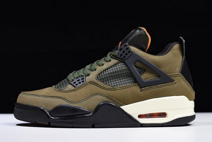 2018 Undefeated x Air Jordan 4 Retro Deep Green Clem Black Shoes