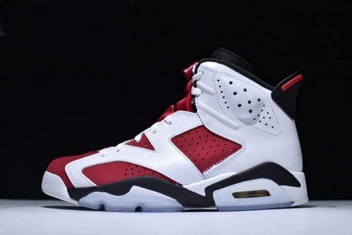 "Air Jordan 6 (VI) Retro ""Carmine"" White Carmine Black 384664 160 Shoes"