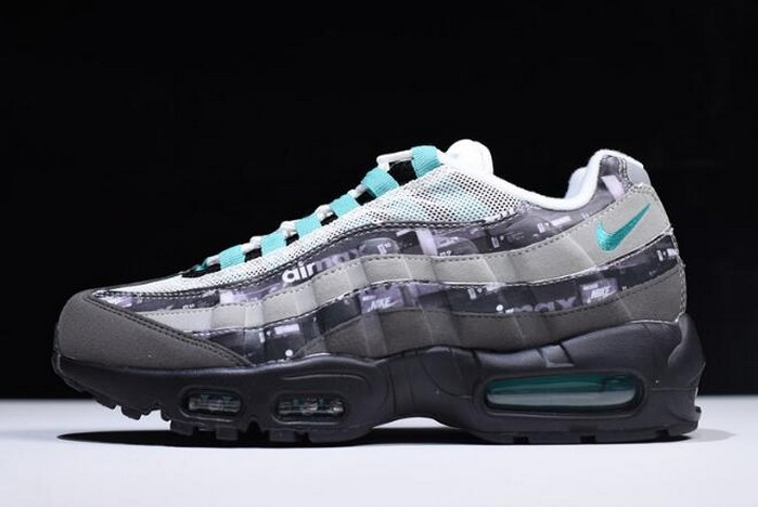 "Atmos x Nike Air Max 95 ""We Love Nike"" Black Clear Jade Medium Ash DK Shoes"