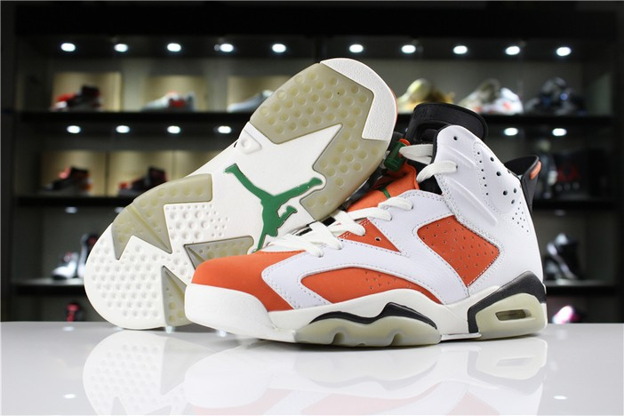 "Womens Air Jordan 6 (VI) Retro GS ""Gatorade"" 2018 Shoes"