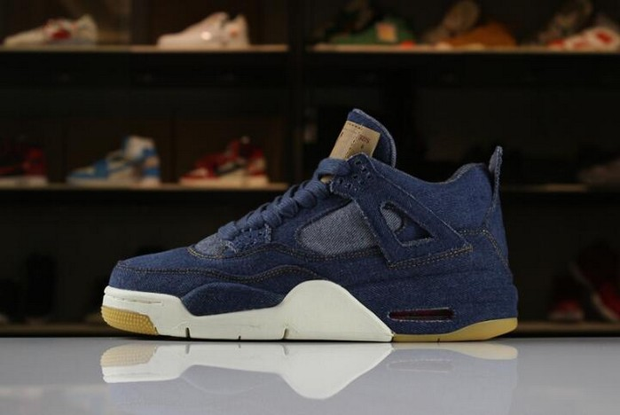 "Levi's x Air Jordan 4 IV ""Denim"" 2018 Shoes"