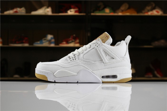 "Levi's x Air Jordan 4 ""White Denim"" Shoes"