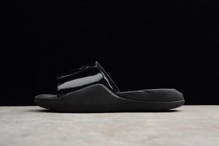 Mens Air Jordan Hydro 7 Retro Slide Black Shoes