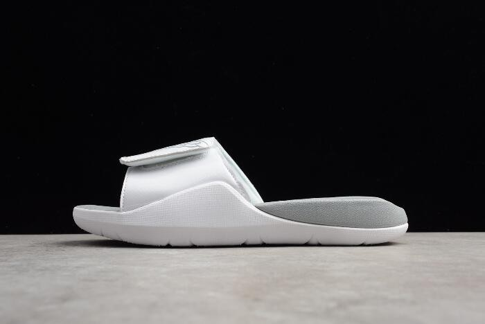 Mens Air Jordan Hydro 7 Slide White Pure Platinum Shoes