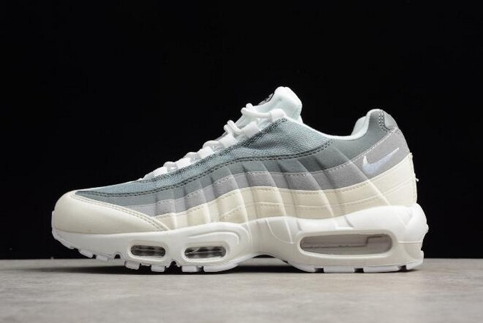Mens Nike Air Max 95 ID White Grey 818592 996 Shoes