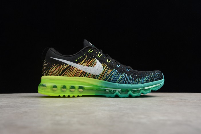 Nike Flyknit Air Max Black Turbo Green Volt Mens Running Shoes