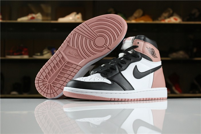 "Mens Air Jordan 1 (I) Retro High OG NRG ""Rust Pink"" Shoes"