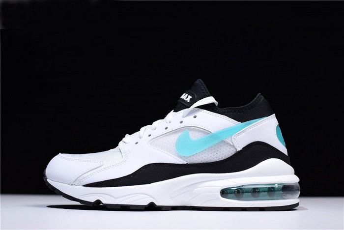"Nike Air Max 93 OG ""Dusty Cactus"" White Sport Turquoise Black Shoes"