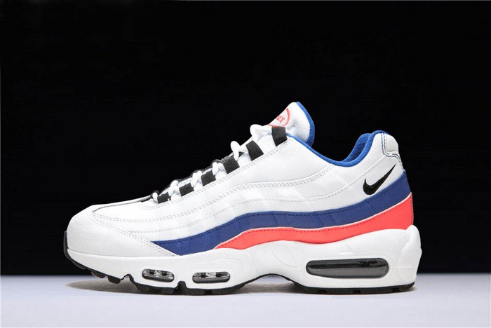 Nike Air Max 95 White Black Solar Red Ultramarine Running Shoes
