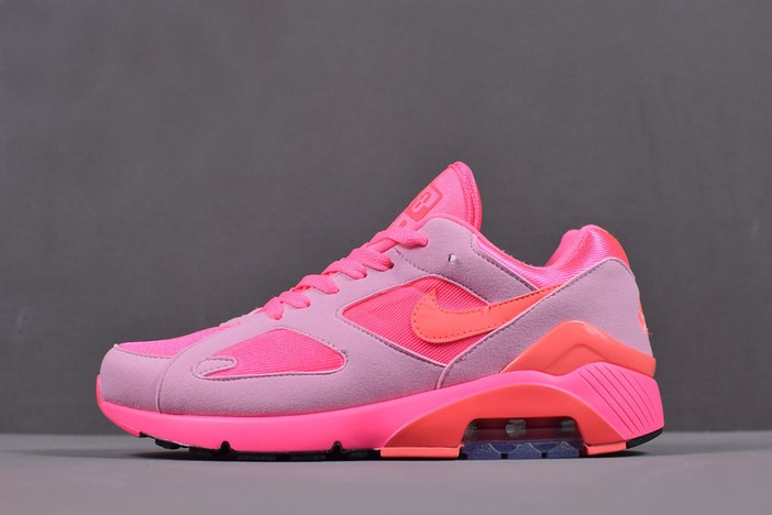 COMME des Garcons x Nike Air Max 180 Laser Pink Solar Red Pink Rise AO4641 602 Shoes