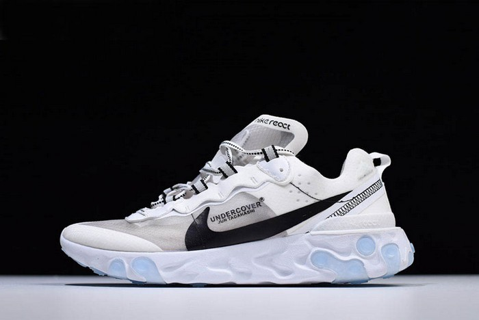 Undercover x Nike React Element 87 White Grey Black Shoes