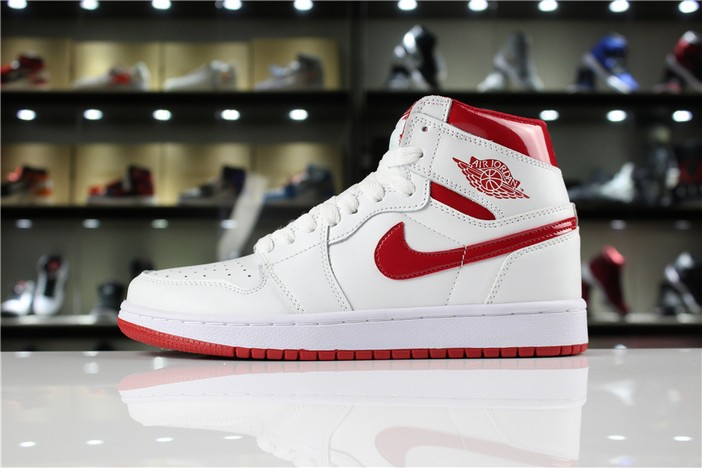 "Air Jordan 1 GS Retro High OG ""Metallic Red"" White Varsity Red 555088 103 Shoes"