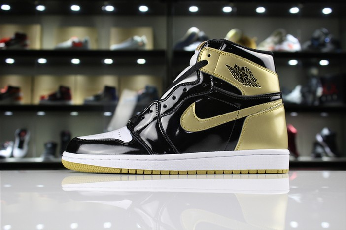 "Air Jordan 1 High OG NRG ""Gold Top 3"" Black Metallic Gold Shoes"