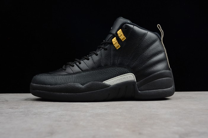 "Air Jordan 12 ""The Master"" Black Rattan White Metallic Gold Shoes"