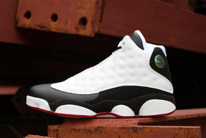 "Air Jordan 13 (XIII) GS Retro ""He Got Game"" White Black True Red 309259 104 Shoes"