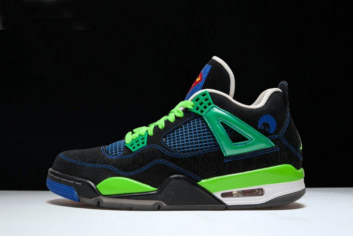 "Air Jordan 4 Retro ""Doernbecher"" Black Old Royal Electric Green White Shoes"