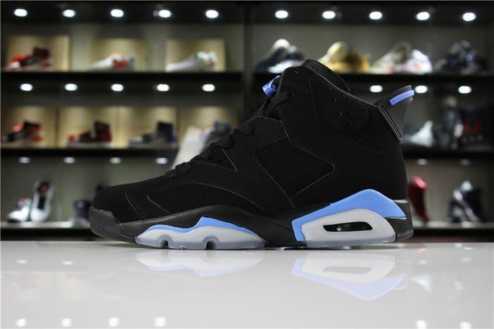 "Air Jordan 6 (VI) Retro ""UNC"" Black University Blue Shoes"