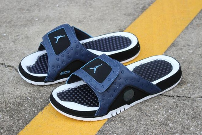 Air Jordan Hydro 13 Retro Sandals Midnight Navy University Blue Black