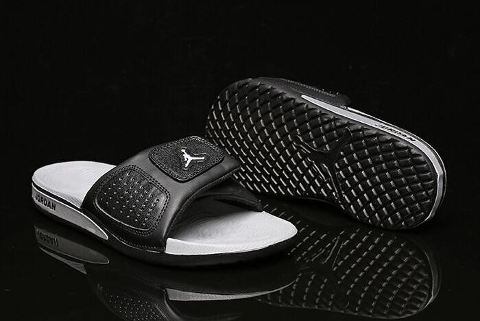 Air Jordan Hydro 3 III Retro Black Silver Sandals