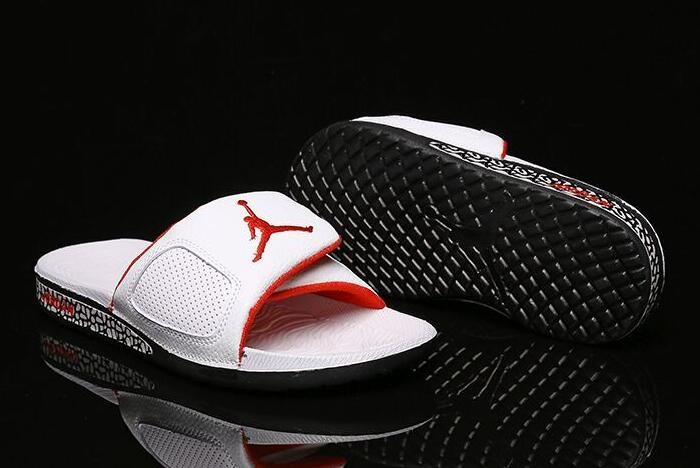Air Jordan Hydro 3 III Retro Slide White University Red Black