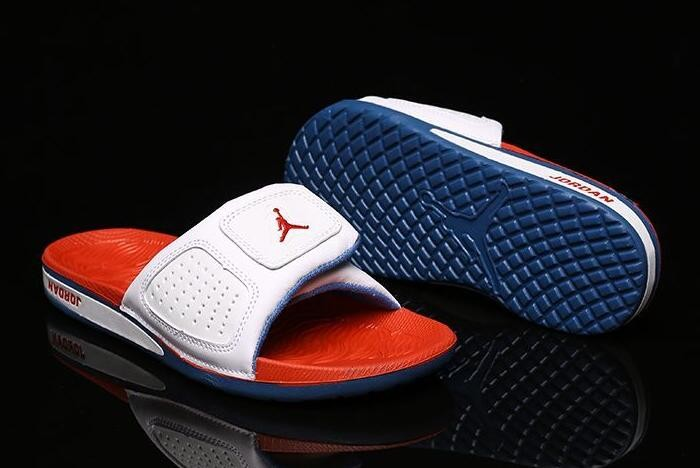Air Jordan Hydro 3 III Retro White Fire Red True Blue Sandals