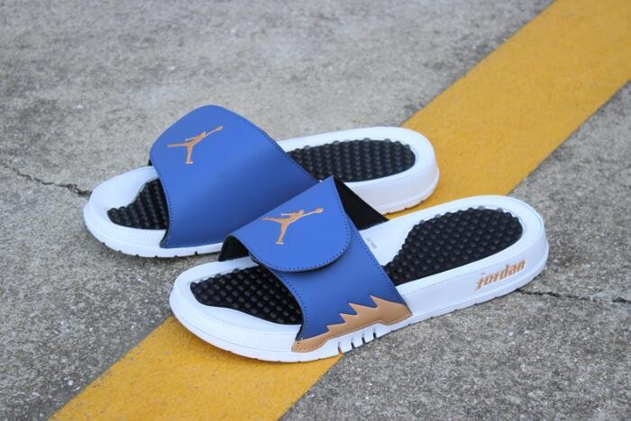Air Jordan Hydro 5 Retro Slide Obsidian Bronze White Black